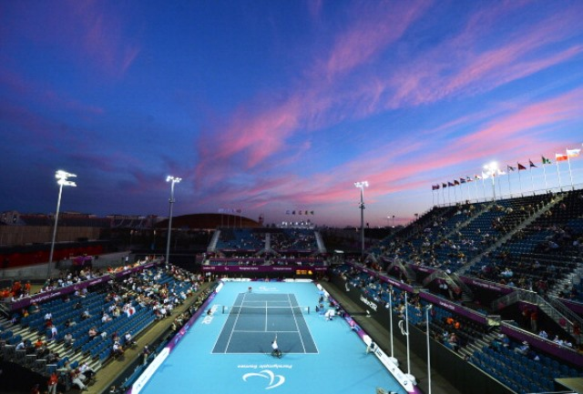 The Lee Valley Hockey and Tennis Centre hosted the wheelchair tennis competition at London 2012 ©Getty Images