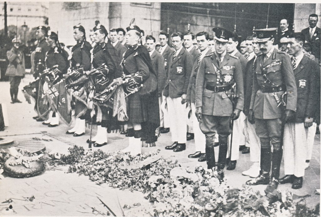The Prince of Wales lays a wreath to the fallen at the 1924 Paris Olympics ©Philip Barker