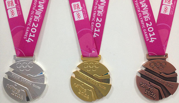 The medals to be won at the Nanjing 2014 Youth Olympic Games have been unveiled today ©Nanjing 2014
