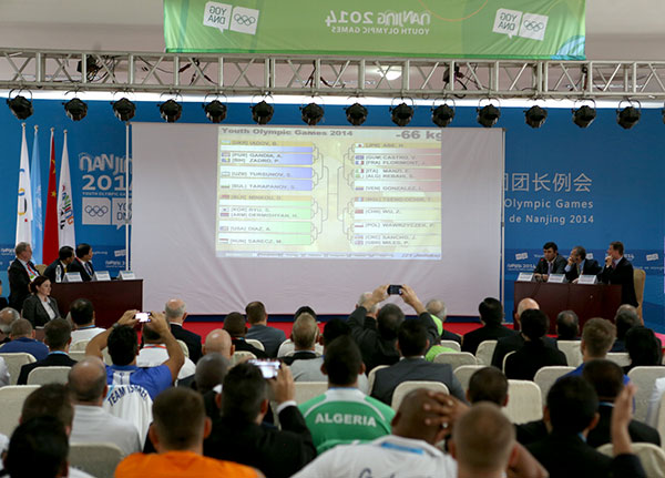 The official draw for the judo competition at Nanjing 2014 took place today ©IJF