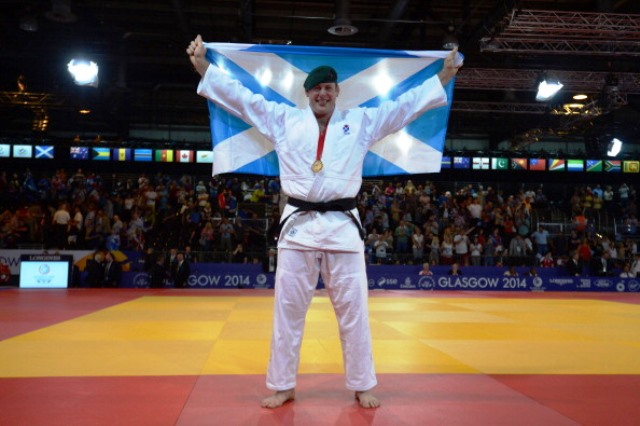 The success of Scottish athletes, such as judo gold medallist Christopher Sherrington, at Glasgow 2014 was a huge boost for Commonwealth Games organisers ©AFP/Getty Images