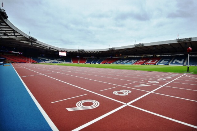 The temporary track at Hampden Park will have a new home in Falkirk ©AFP/Getty Images