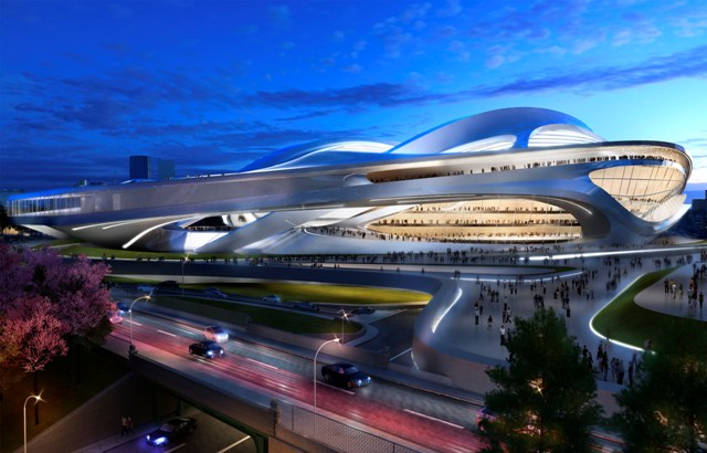 Zaha Hadid's design for a new National Stadium to be built in time for the Tokyo 2020 Olympics and Paralympics have been at the centre of fierce debate ©Zaha Hadid Architects