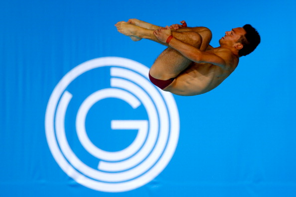 Tom Daley en route to a successful defence of his 10m platform title ©Getty Images
