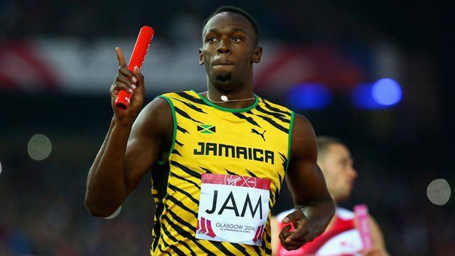 The deadline to bid for the baton used by Usain Bolt during the 4x100 metres at Glasgow is approaching ©Getty Images