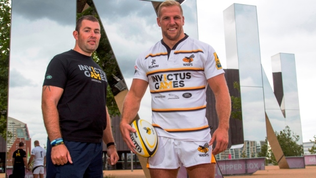 Wasps star James Haskell (right) joined British team member Ben Steele to launch a partnership with the organisers of the Invictus Games ©Invictus Games