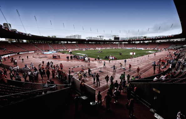 A general view of the Stadium Letzigrund ahead of the 22nd European Athletics Championships which start tomorrow ©Getty Images