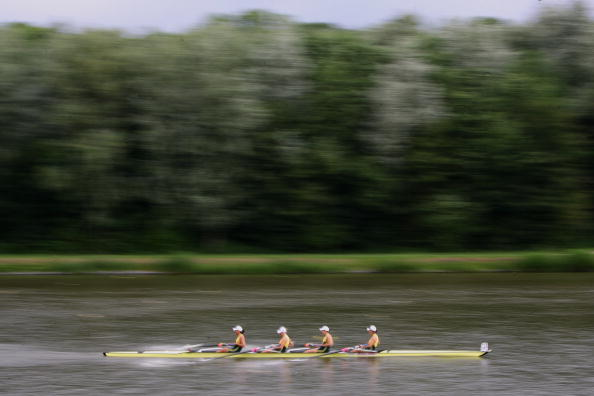 Rowing at the 2007 FISA World Cup race on the speedy Bosbaan Lake course in Amsterdam, which will host this week's FISA World Championships ©Getty Images