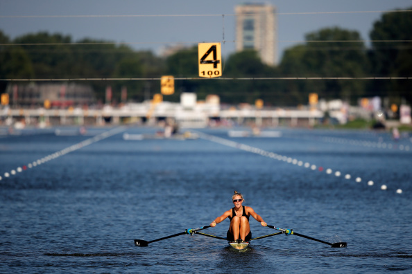 Emma Twigg was victorious in the women's single sculls after seven years of trying at the World Championships ©Getty Images