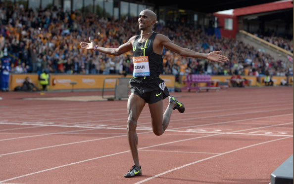 Mo Farah sets a British two miles best at the IAAF Diamond League meeting in Birmingham ©Getty Images