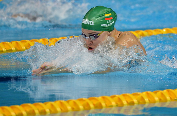 A cool, calm and collected Ruta Meilutyte added Youth Olympic gold to her London 2012 title in Najing today ©Getty Images