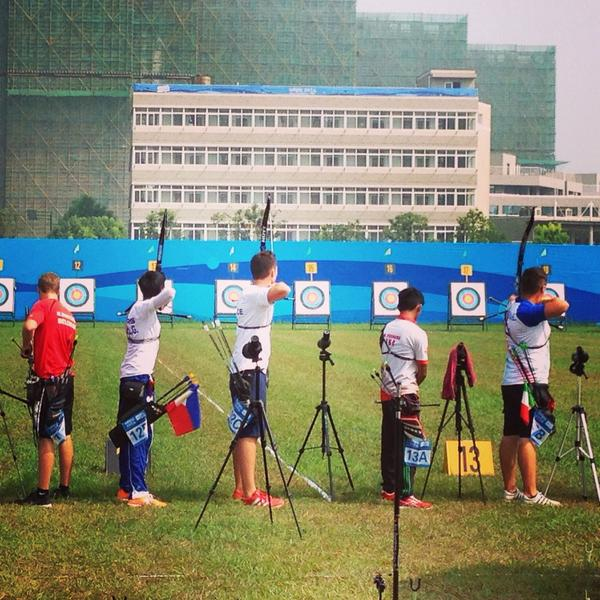 Archery qualification action @CNOSF