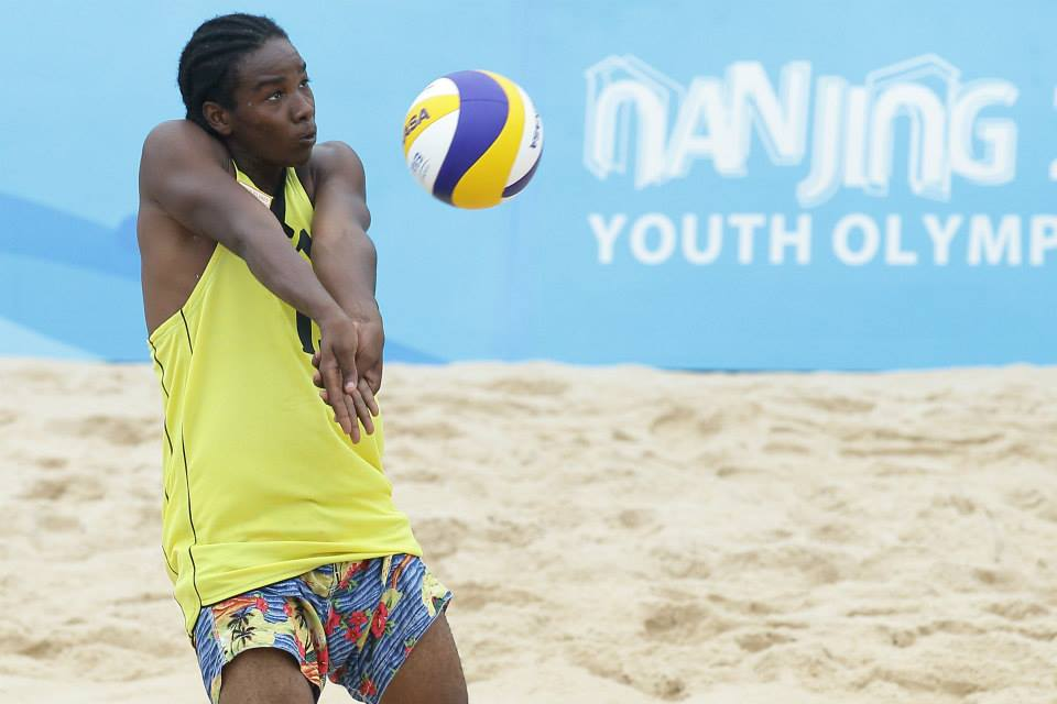 Carlos Rosa of Virgin Islands in action ©FIVB