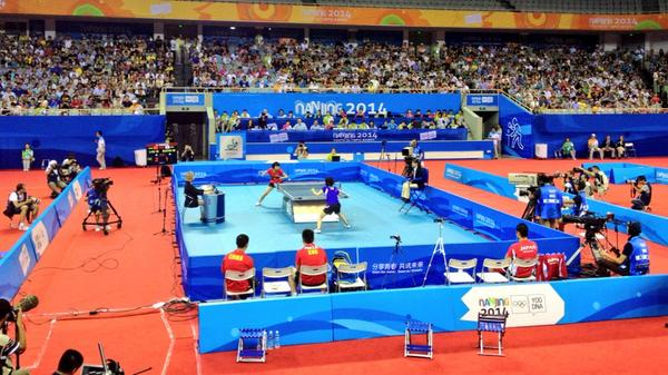 China versus Japan in table tennis ©Nanjing 2014