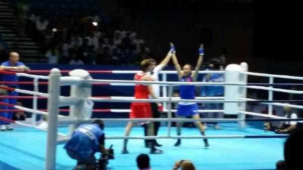 China win gold in boxing ©Twitter