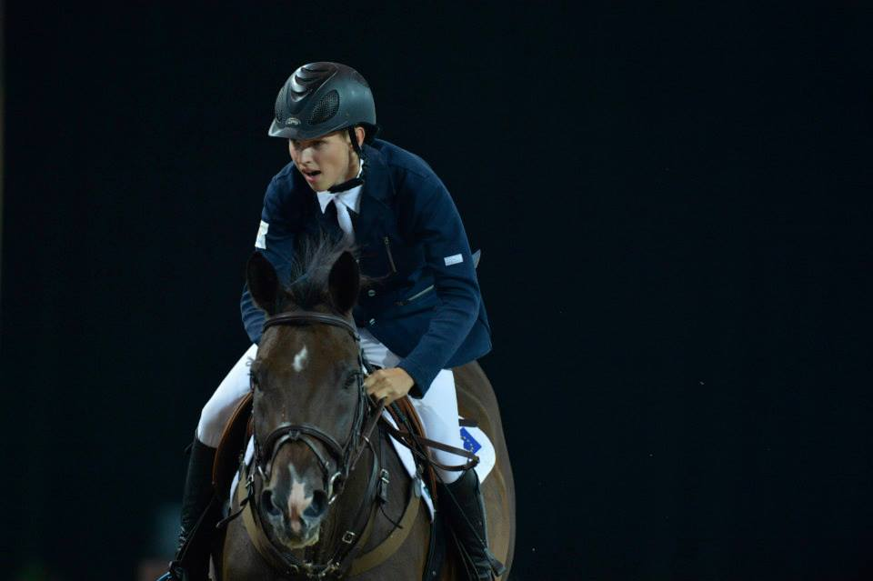 Filip Agren of Sweden went clear for Europe ©FEI/Richard Juilliart