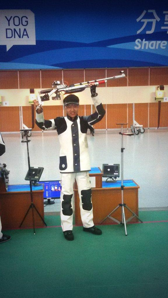 Haoran Yang wins gold in the 10m air rifle ©Twitter