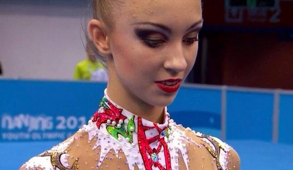 Irina Annenkova has won all-around gold in the rhythmic gymnastics ©Twitter