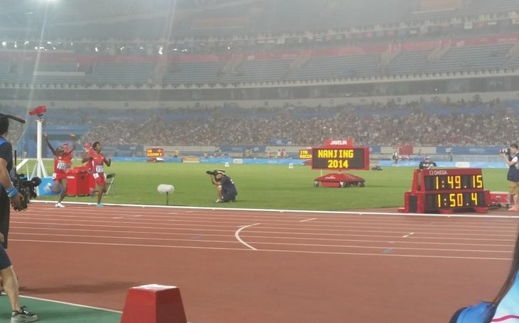 Myles Marshall wins 800m gold ©Twitter