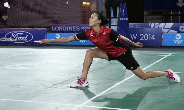Michelle Li is showing that she is not prepared to be beaten at the Badminton World Championships ©AFP/Getty Images
