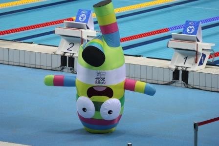 Nanjinglele at the swimming pool ©Nanjing2014