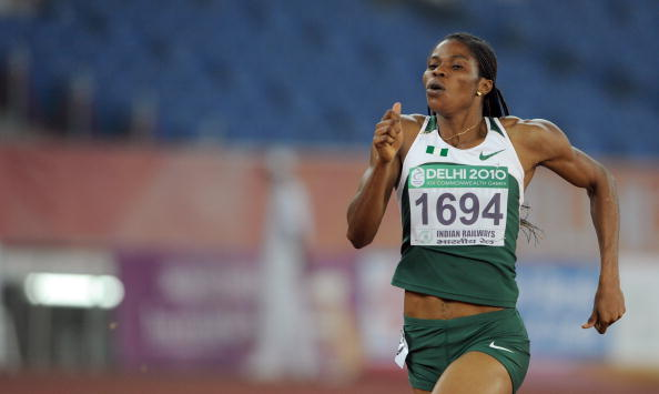 On what was a strong day for Nigeria, Folashade Abugan just pipped Kabange Mupopo to gold in the women's 400m ©AFP/Getty Images