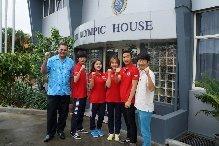 The 2014 Summer Taekwondo Peace Corps from South Korea have visited FASANOC's headquarters in Suva ©FASANOC