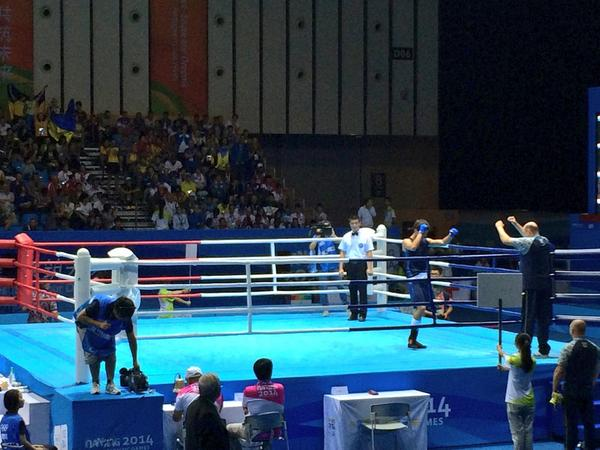 Ramil Gadzhyiev seals middleweight gold in the boxing ©Twitter