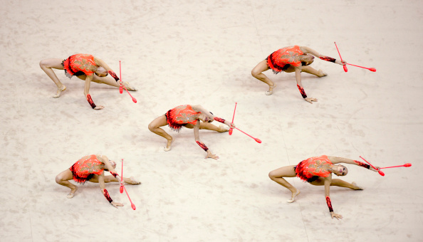 Rhythmic Gymnasts at Nanjing 2014