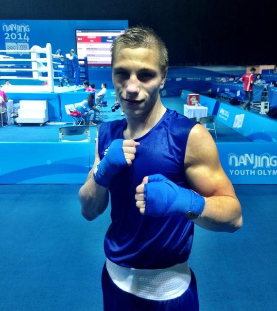Richard Konnyu strikes a pose after taking bronze in the boxing ©Twitter