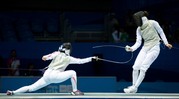 Sabrina Massialas looks to be following in the family tradition as she took gold in the women's individual foil competition ©Getty Images