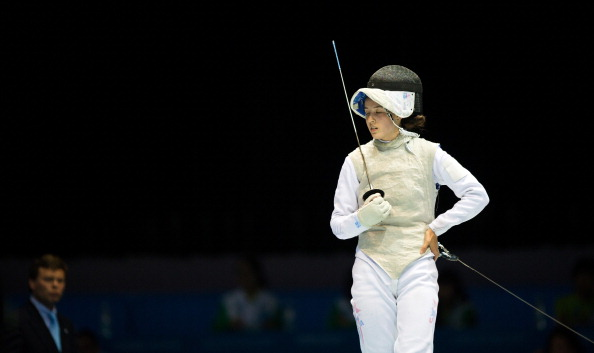 Sabrina Massialas takes gold in the women's individual foil ©Getty Images