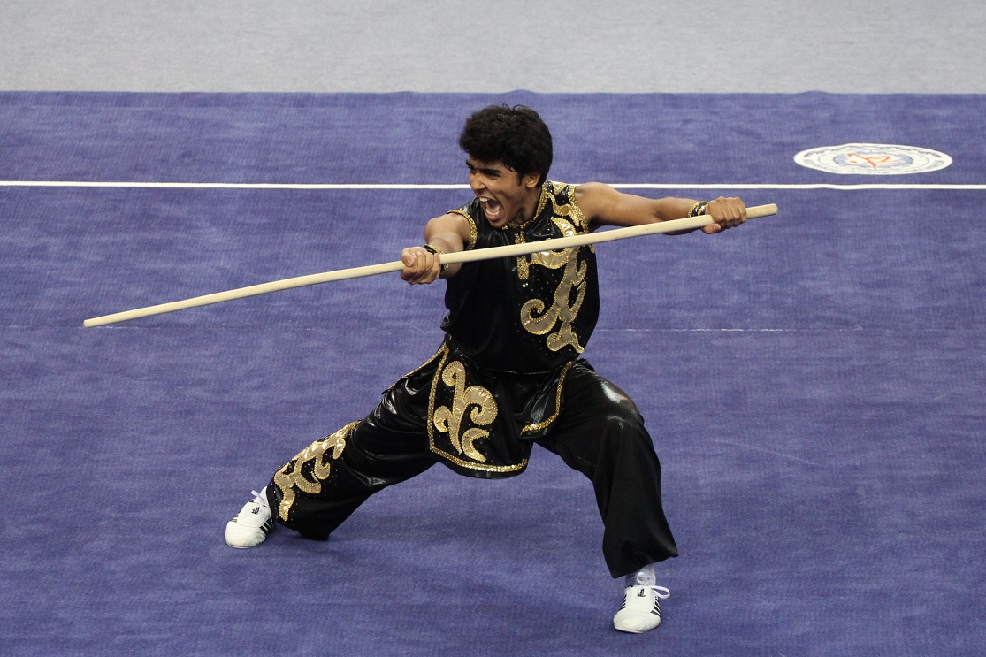 Soliman Abdelrahman Eha from Egypt performs his routine ©Nanjing 2014