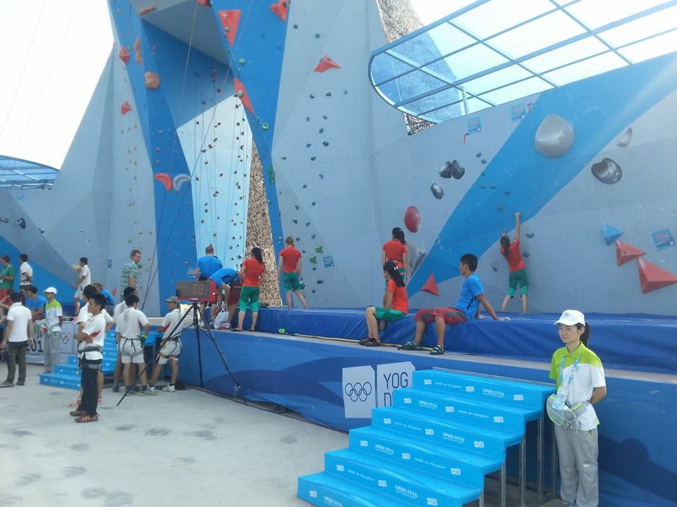 Sport climbing has proved incredibly popular during the week or so it has been on display at the Sports Lab in Nanjing ©ITG