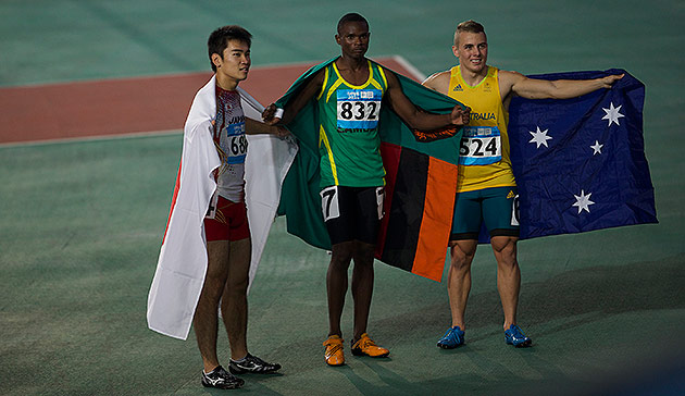 Sydney Siame following his historic gold medal for Zambia earlier this week ©IOC/Mine Kasapoglu