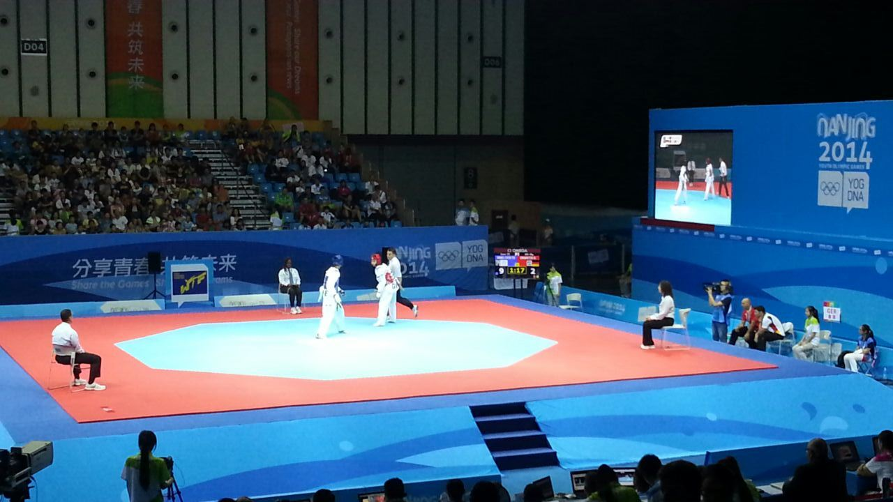 Taekwondo medals action ©ITG