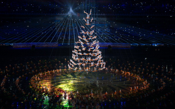 The Opening Ceremony was a truly spectacular show with highlights including the performance by the the Songshan Shaolin Tagou Martial Arts School ©Getty Images
