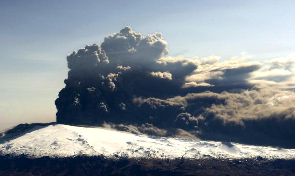 The ash cloud caused by the eruption of the Eyjafjallajökull volcano made Oliver Townend's journey to Kentucky fraught ©AFP/Getty Images