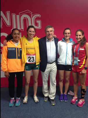 Thomas Bach at modern pentathlon ©Twitter