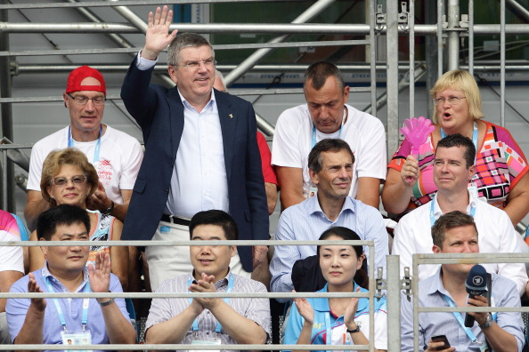 Thomas Bach being introduced at yet another venue ©Getty Images