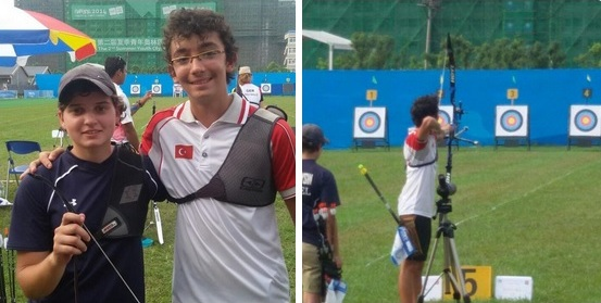 Turkey and Israel team up in the archery ©Twitter