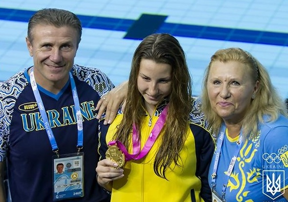 Ukranian IOC member Sergey Bubka with Nastya Malyavina ©Twitter