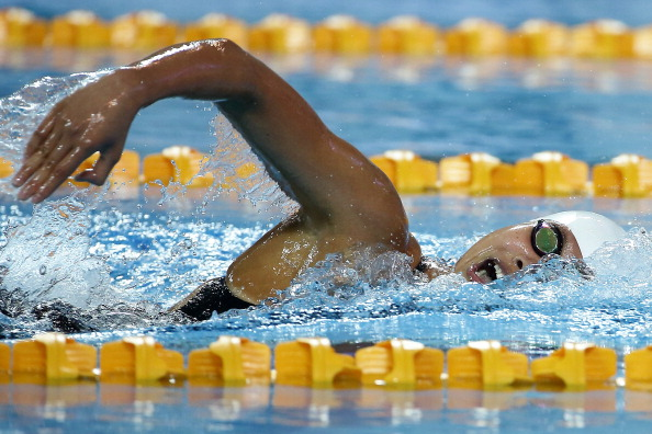 Vien Nguyen Thi Anh, pictured in 2013, has won swimming gold for Vietnam ©Getty Images