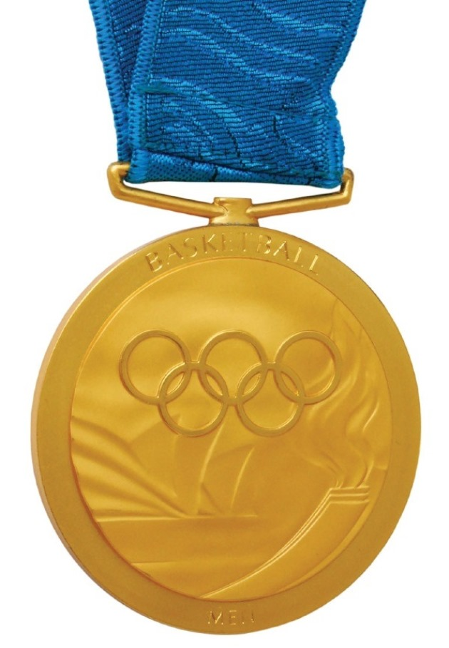 The gold medal sold by Vin Baker is believed to be the first to be auctioned since NBA stars started appearing in the Olympics ©Grey Flannel Auctions