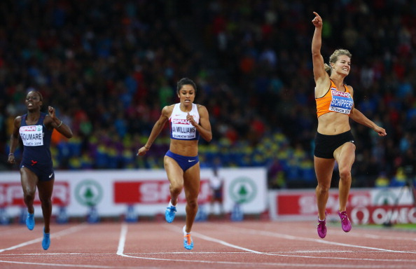 Dafne Schippers delivers part two of a sprint double to match that of her Dutch fountrywoman Fanny Blankers-Koen at the 1950 European Championships ©Getty Images
