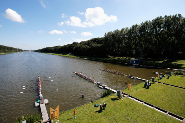 The women's eight heats, postponed from the previous day because of high winds, took place today at the World Rowing Championshpis in Amsterdam ©Getty Images