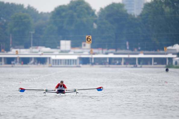 Rowing on day three of the World Championships on Amsterdam's Bosbaan Lake had to be suspended when wind conditions changed ©Getty Images