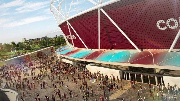 A CGI image of the Olympic Stadium following its renovation works ©West Ham