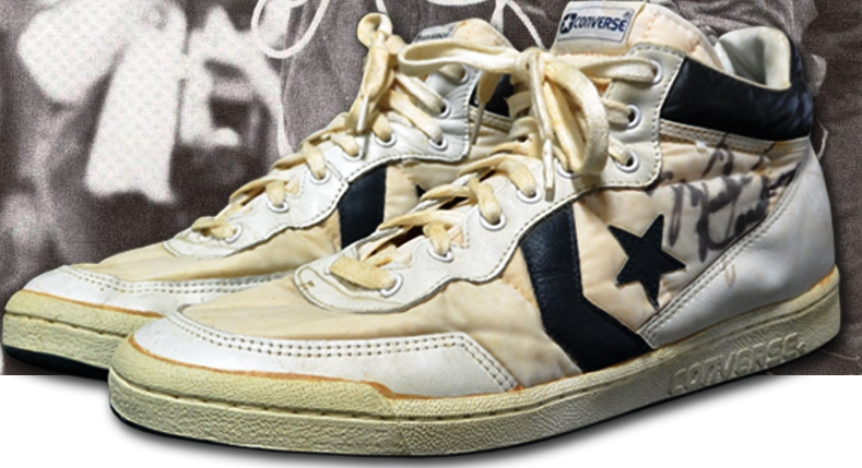 A signed pair of shoes worn by Michael Jordan in 1984 Olympic Games final are to go on auction ©Grey Flannel Auctions