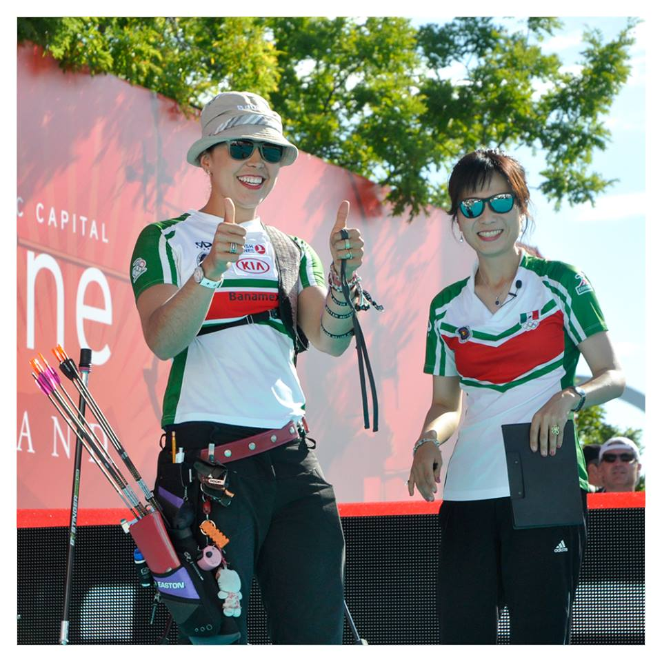 Aída Román won the individual and mixed team titles for Mexico ©World Archery